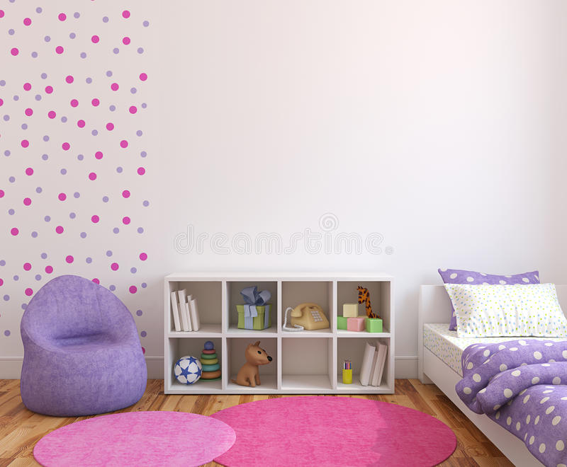 inre playroom royaltyfri illustrationer