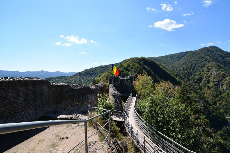 Inre Poenari fästning arkivbild