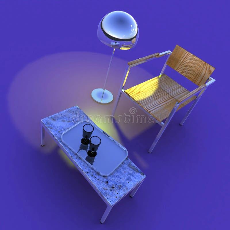 inre purple för sammansättning stock illustrationer