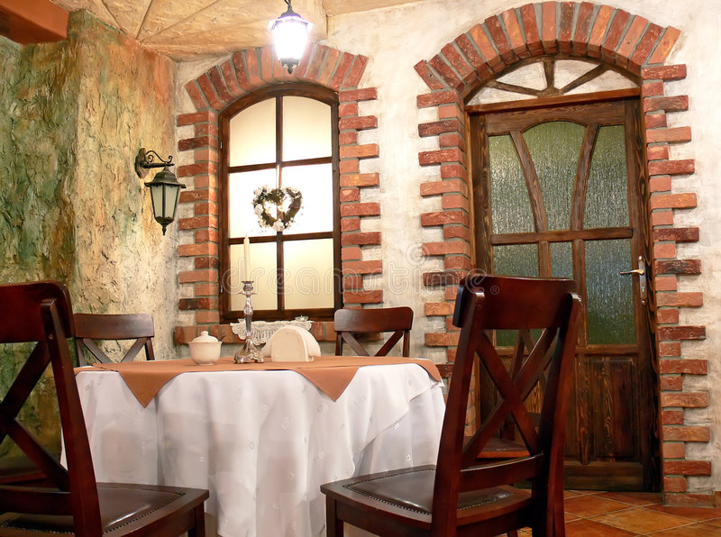 inre restaurang arkivbilder