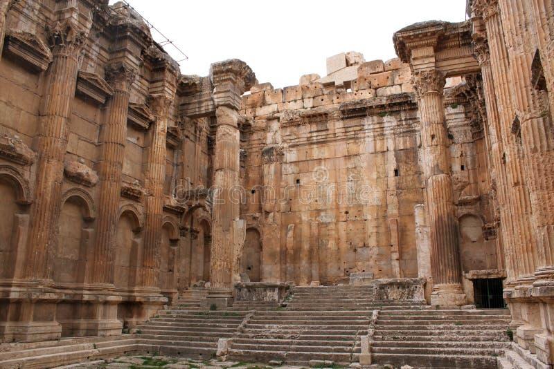 inre roman tempel fotografering för bildbyråer