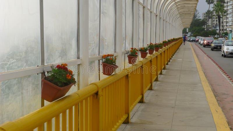 Inre sikt av den Villena bron i Miraflores royaltyfria foton