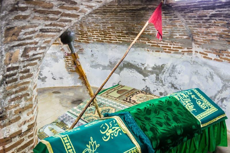 Inre sikt av Mengujek ghazis gravvalv, Sultan Melih fotografering för bildbyråer
