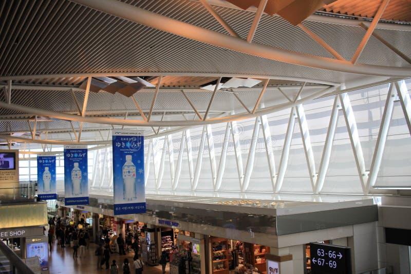 Inre sikt av nya Chitose Airport, OKKAIDO, arkivbilder