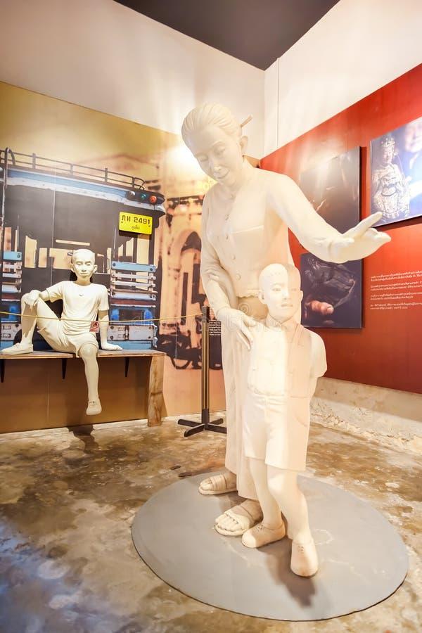 Inre sikt av Phuketen thailändska Hua Museum i Phuket, Thailand arkivfoton