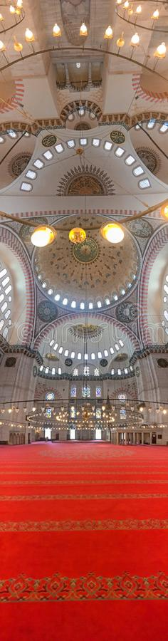Inre sikt av Sehzade Camii eller prins Mosque, Istanbul royaltyfria foton