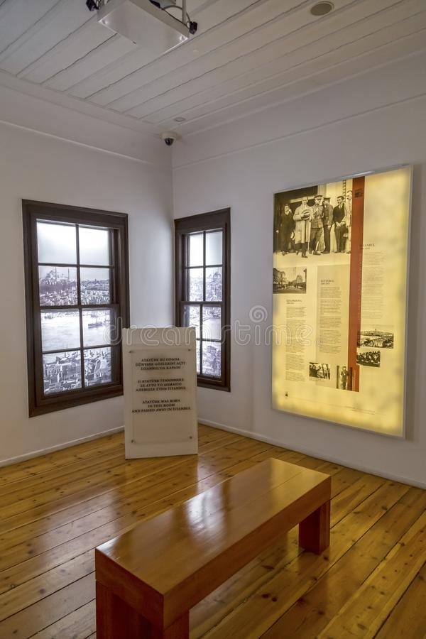 Inre sikt från Ataturks uppehåll i Thessaloniki, Grekland arkivfoto