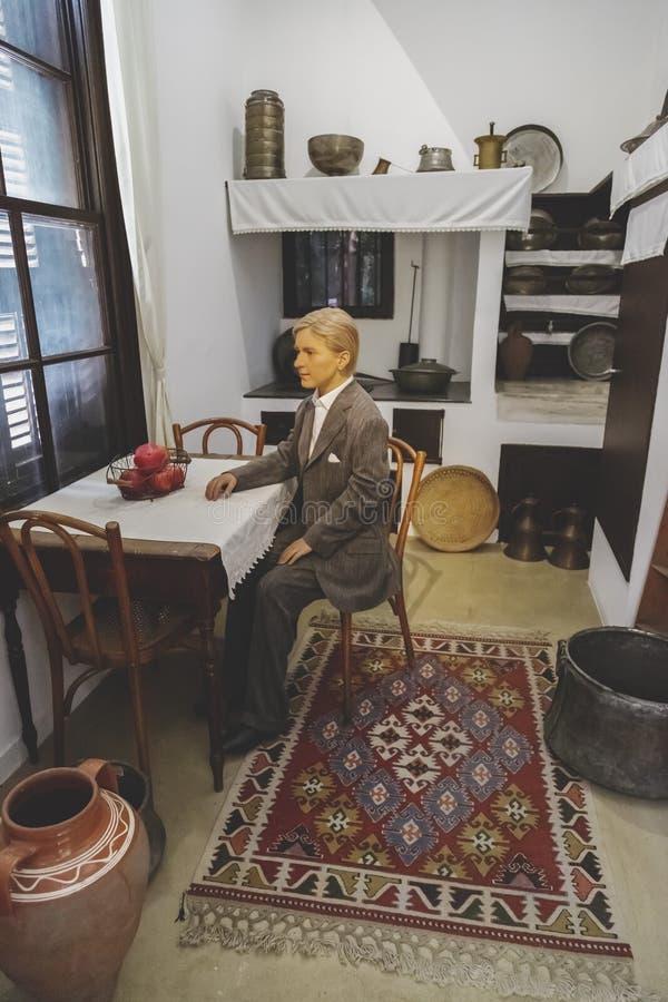 Inre sikt från Ataturks uppehåll i Thessaloniki, Grekland royaltyfria foton