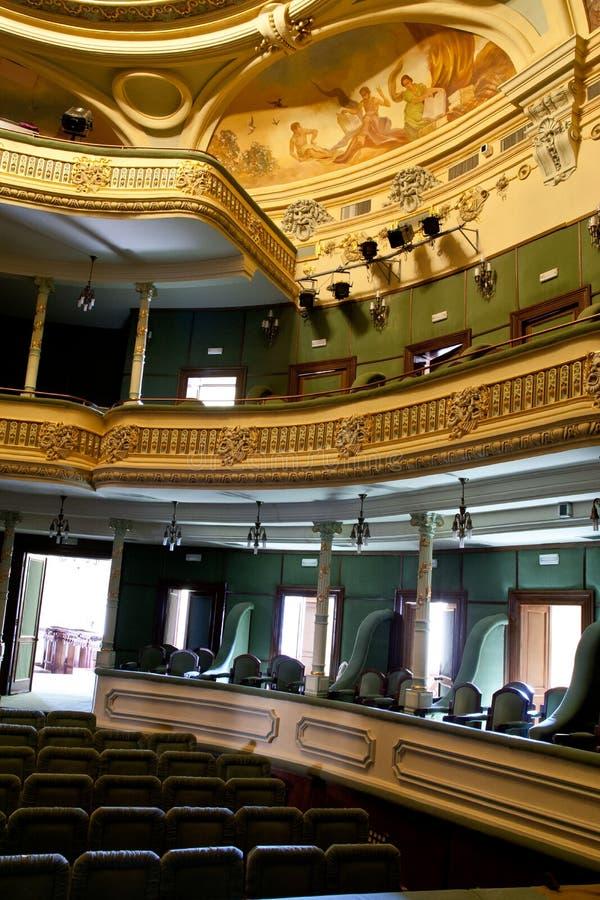 inre teater royaltyfria bilder
