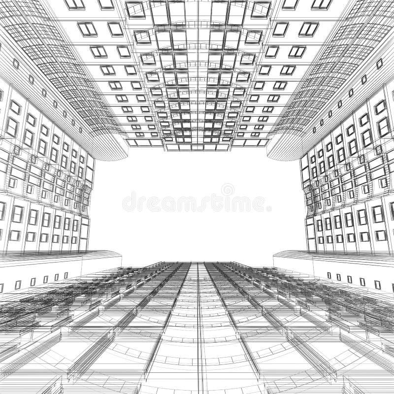 inre väggfönster vektor illustrationer