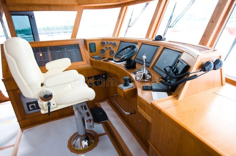 inre yacht royaltyfria bilder