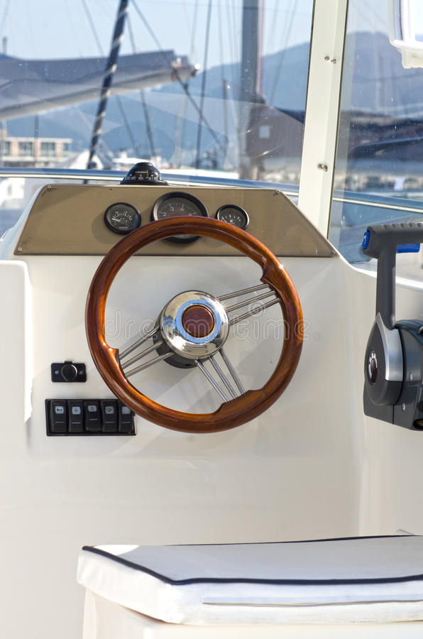 inre yacht royaltyfria foton