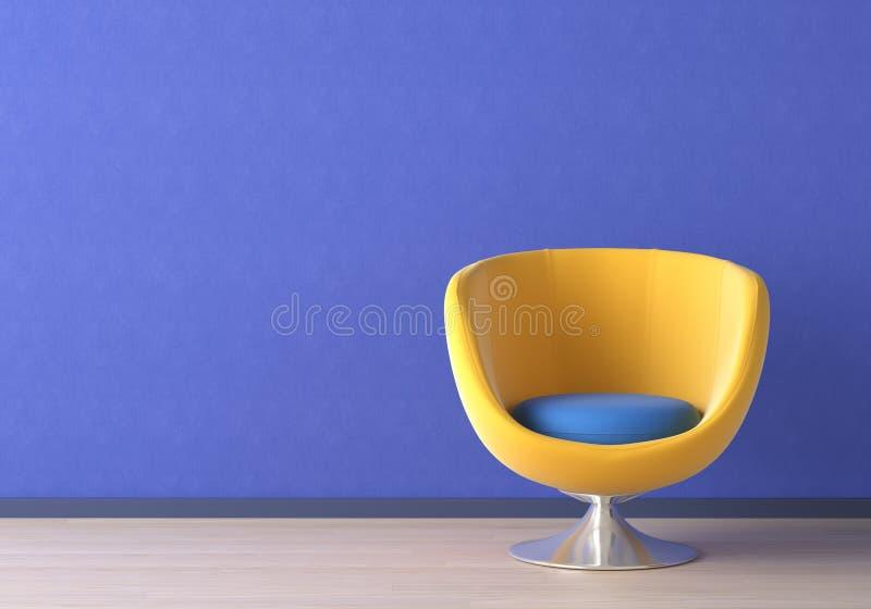inre yellow för stolsdesign royaltyfri illustrationer
