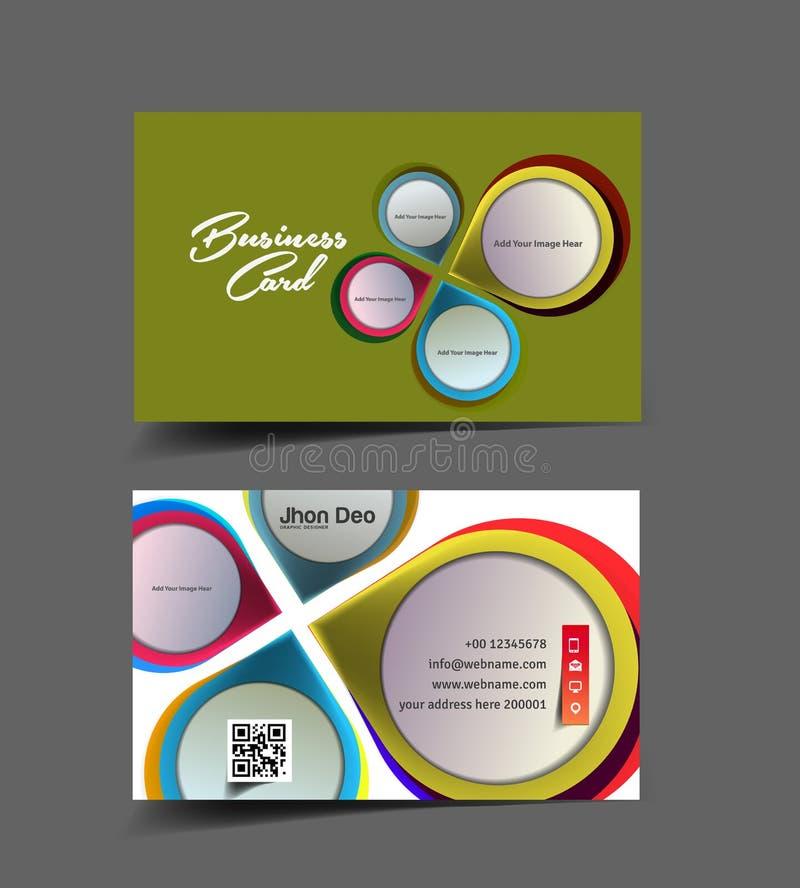 Inreformgivare Business Card vektor illustrationer