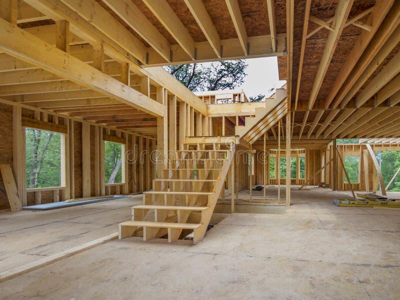 Inrekonstruktion för nytt hus arkivbilder