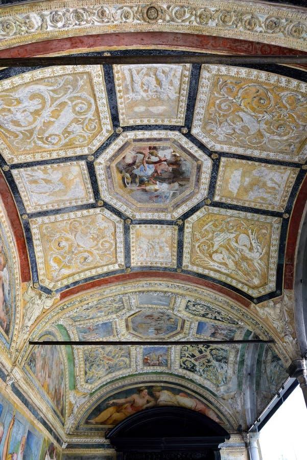 Inrevilladel Principe Genoa Italy arkivbilder