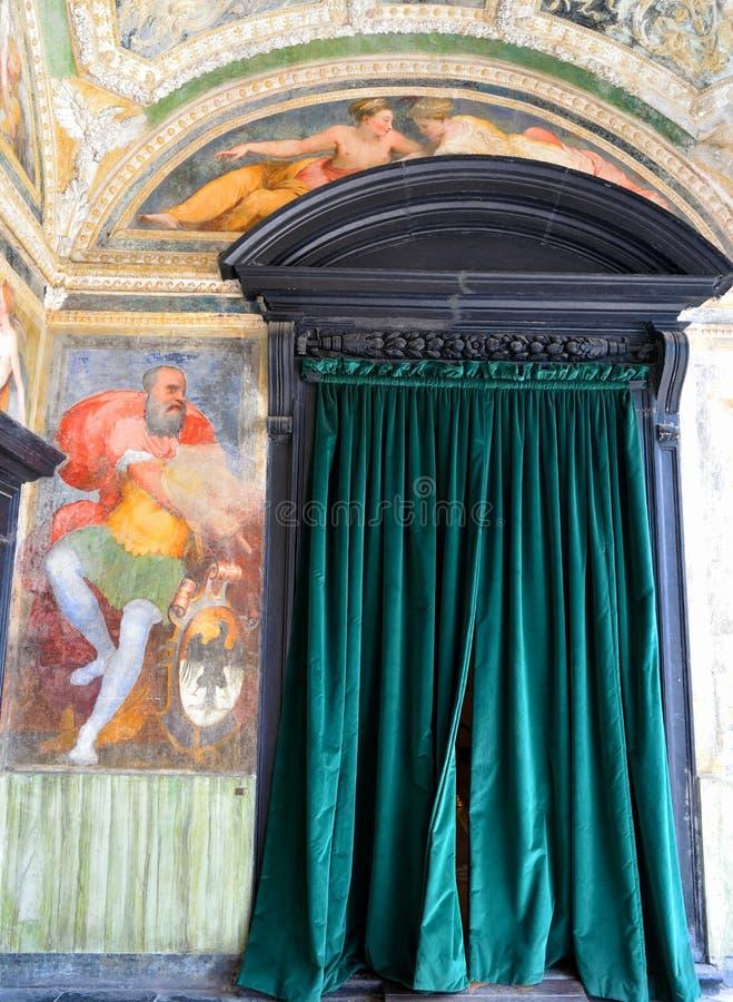 Inrevilladel Principe Genoa Italy arkivfoton