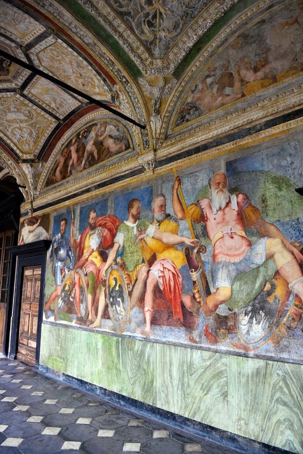 Inrevilladel Principe Genoa Italy royaltyfria bilder