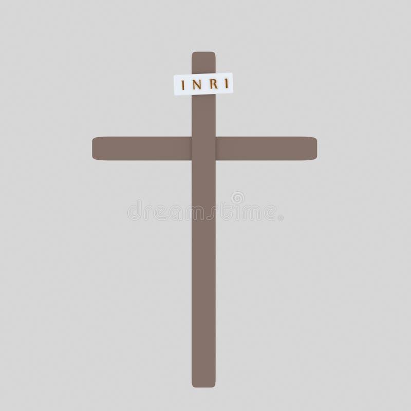 Inri cruzado 3d libre illustration