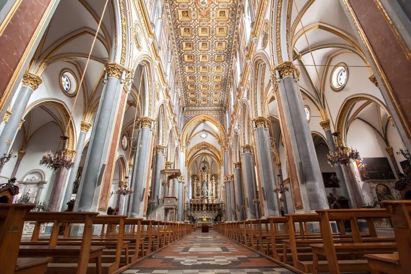 Inrikesminister i Chiesa di Sant`Angelo a Nilo i den gamla staden Neapel, Italien fotografering för bildbyråer