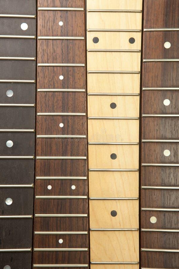 inriktade olika gitarrhalsar royaltyfria foton