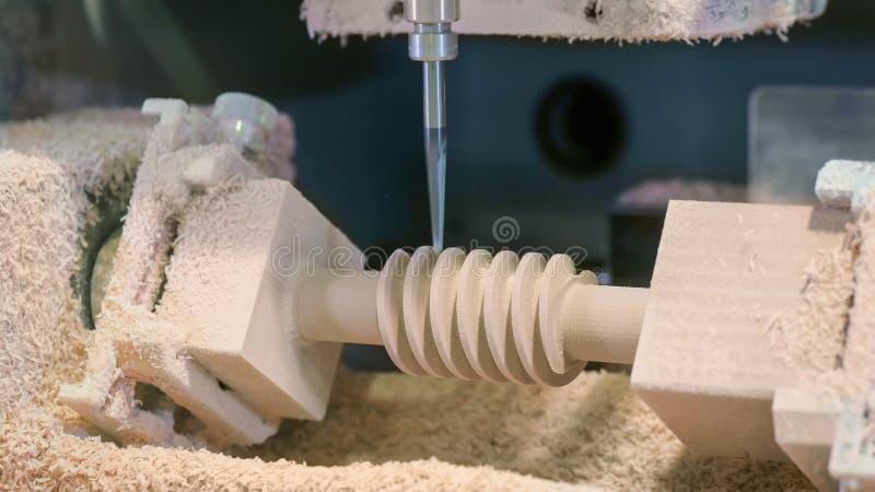 Inrista f?r CNC - mala maskin under arbete arkivfoto