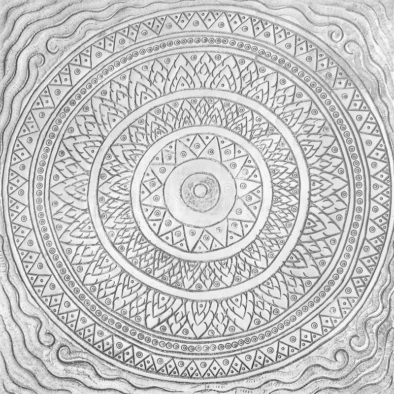 Inristad orientalisk textur-/modellbakgrund för metall arkivbild
