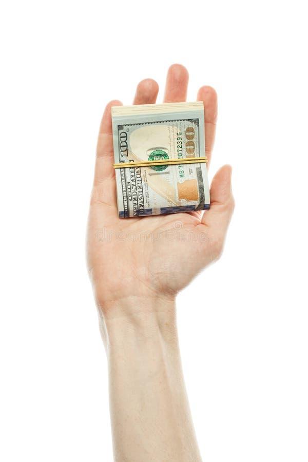 Insättningintresse, finansiell USA pengarsedel och kommersiellt begrepp för pengarinvesteringvinst US dollar kassapengar i den ma arkivbild