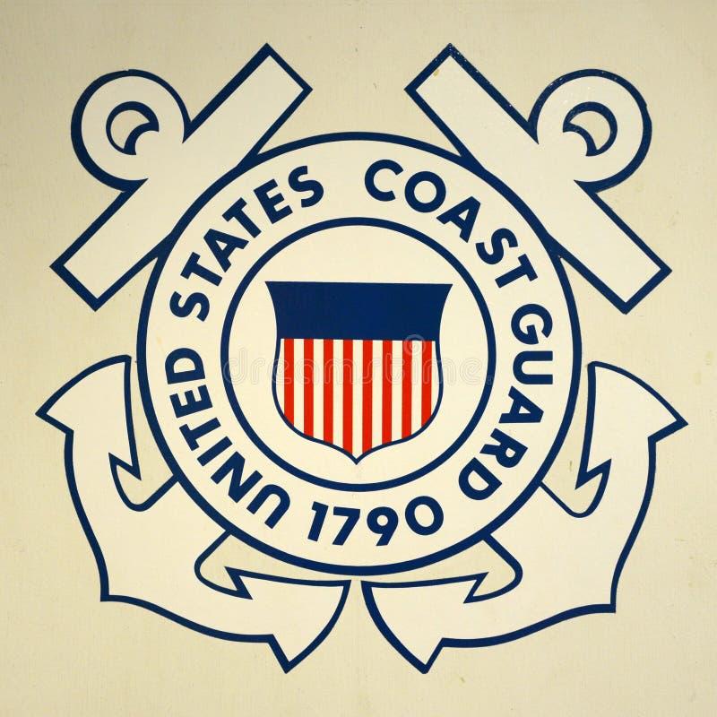 Insígnias da guarda costeira de Estados Unidos foto de stock royalty free