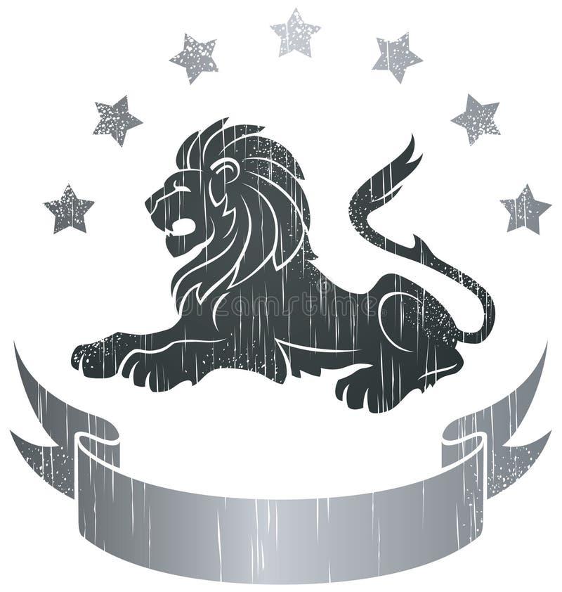 Insígnias do leão ilustração royalty free