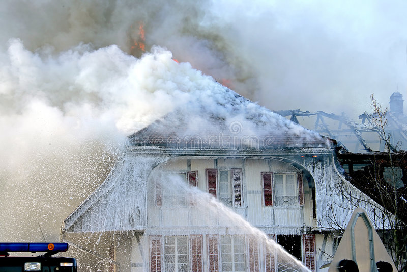ins 2 пожаров стоковое фото rf