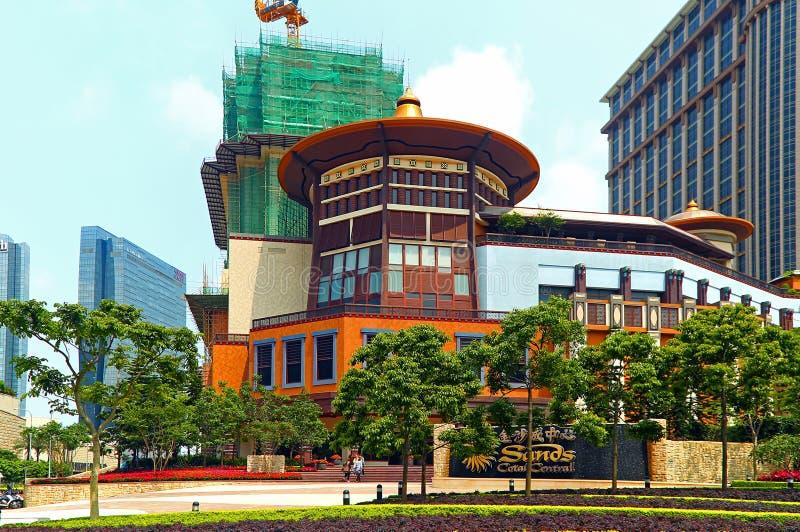 Insabbia l'hotel centrale di cotai, Macao fotografia stock libera da diritti