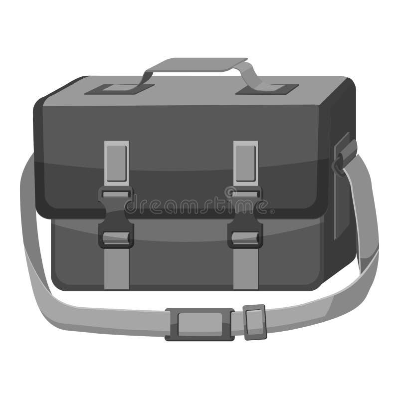 Insacchi per l'icona della macchina fotografica, stile monocromatico grigio illustrazione vettoriale