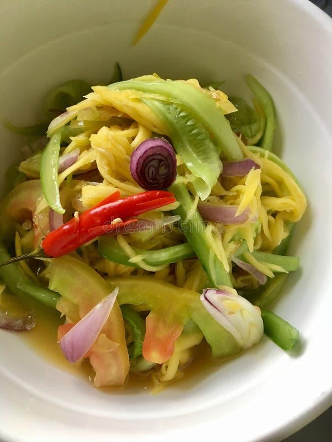 Insalata cambogiana del mango fotografia stock libera da diritti