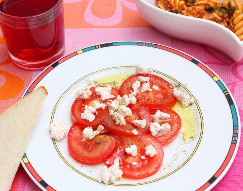 Insalata dei pomodori immagini stock libere da diritti