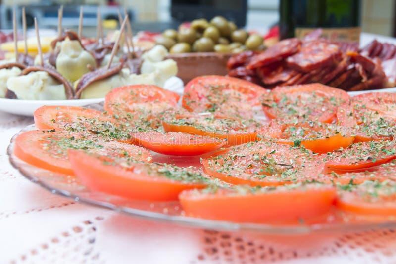 Insalata dei pomodori immagini stock