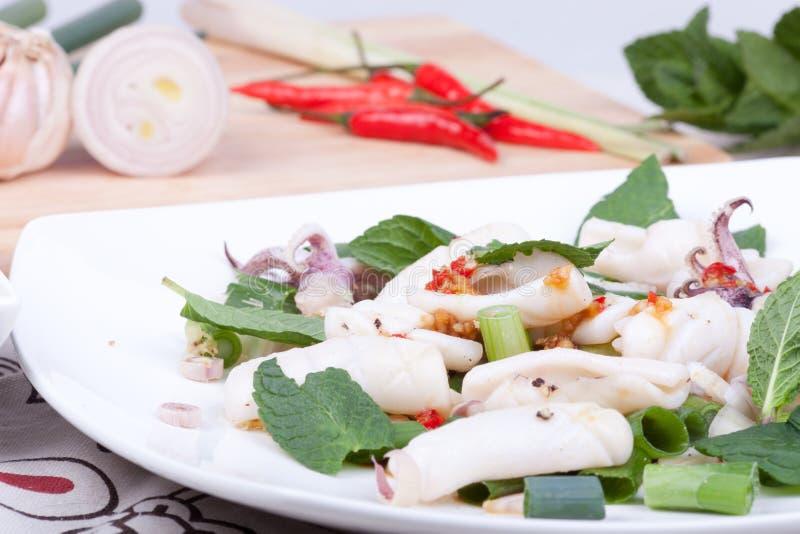 Insalata del calamaro fotografia stock libera da diritti