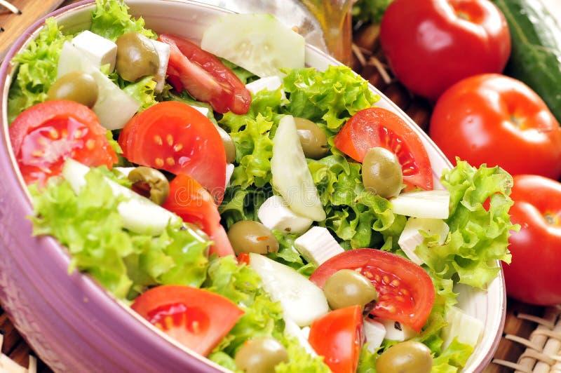 insalata del Feta-formaggio fotografie stock