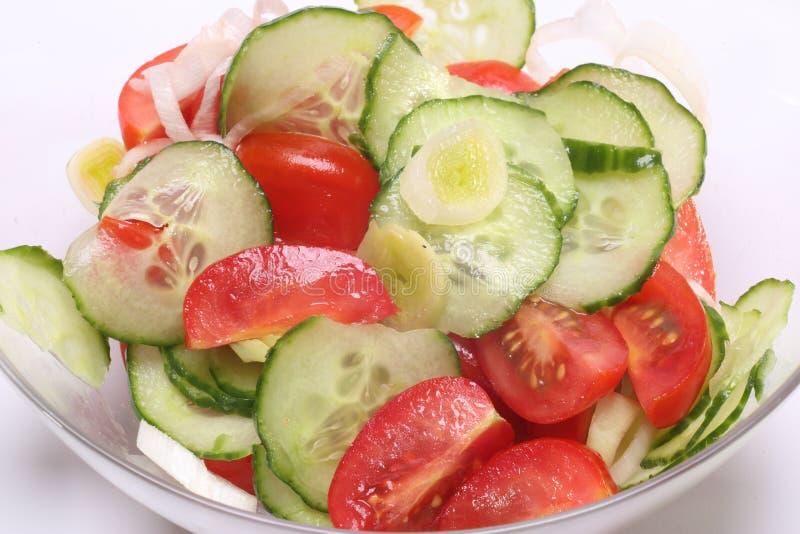 Insalata del pomodoro del cetriolo immagine stock