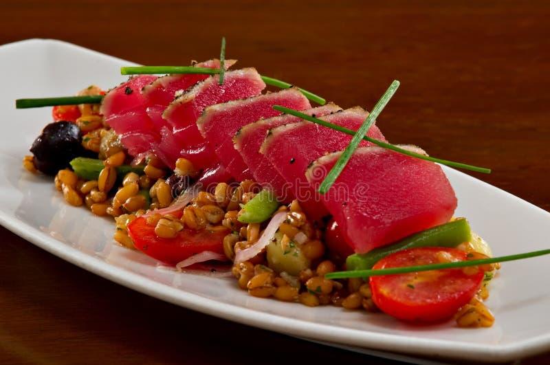 Insalata del sashimi dello sgombro di Ahi fotografie stock