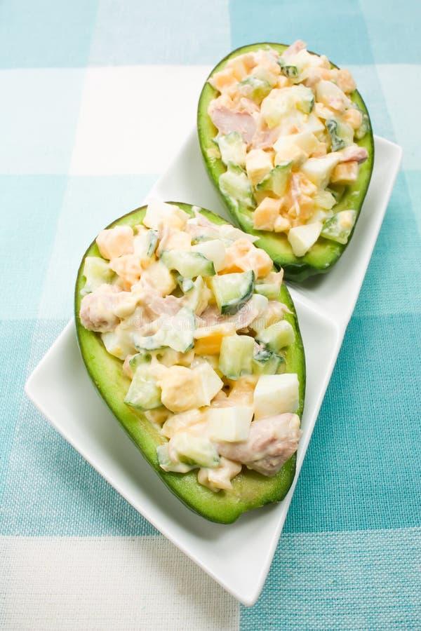 Insalata dell'avocado fotografia stock