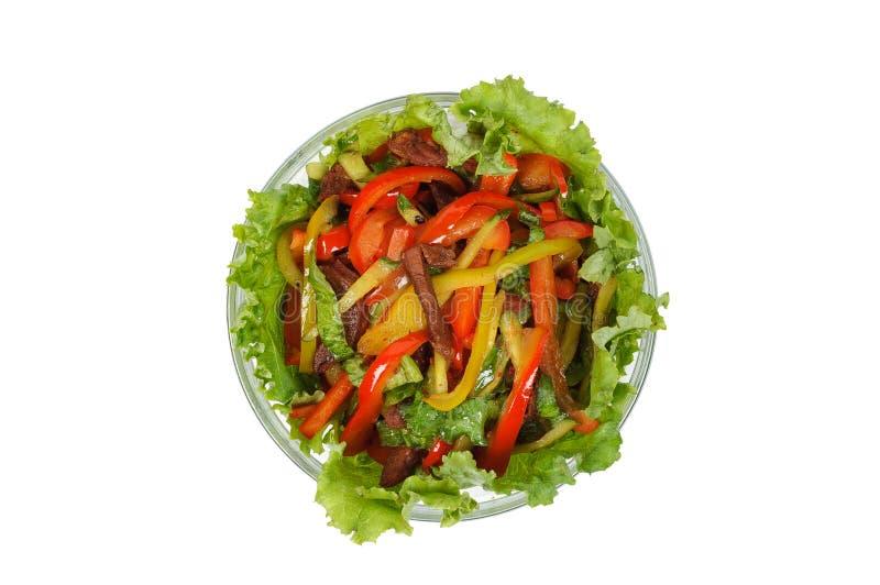 Insalata della carne con le verdure fotografia stock libera da diritti