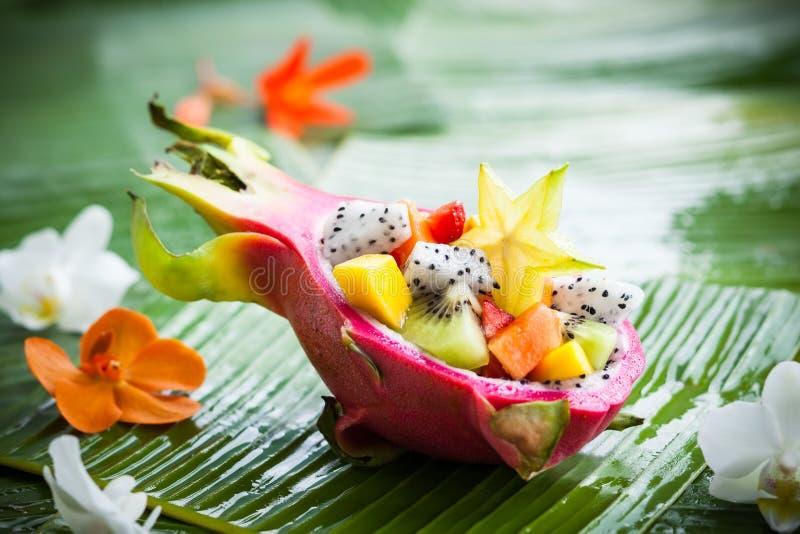 Insalata di frutta esotica fotografie stock