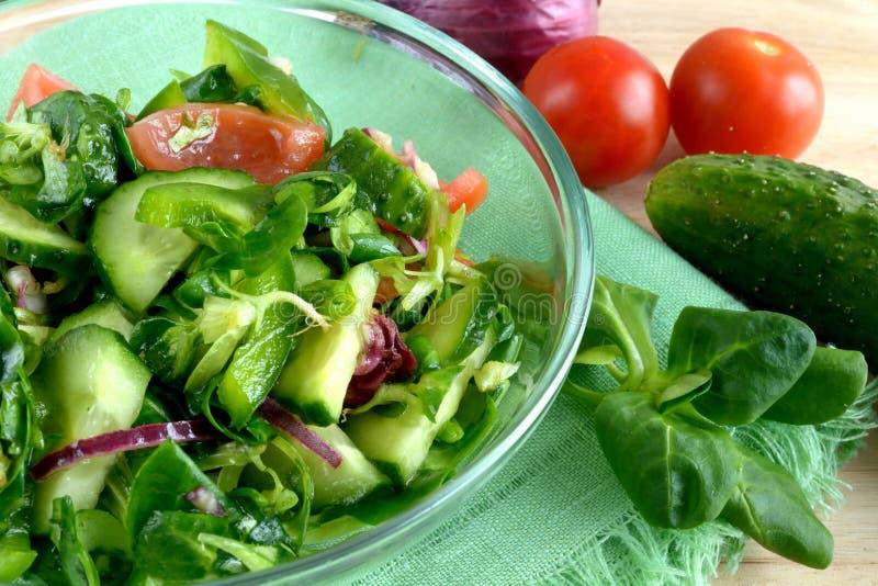 Insalata di verdure fotografia stock