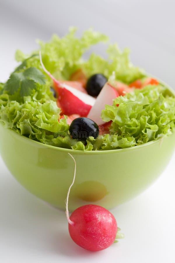 Insalata di verdure con il ravanello rosso immagini stock libere da diritti