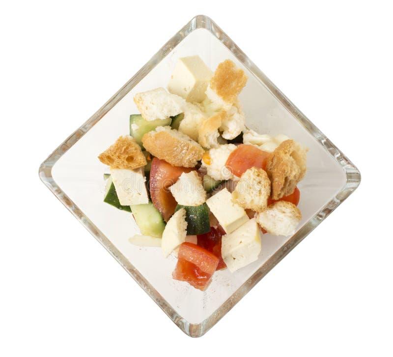 Insalata di verdure deliziosa con il formaggio del tofu immagine stock libera da diritti