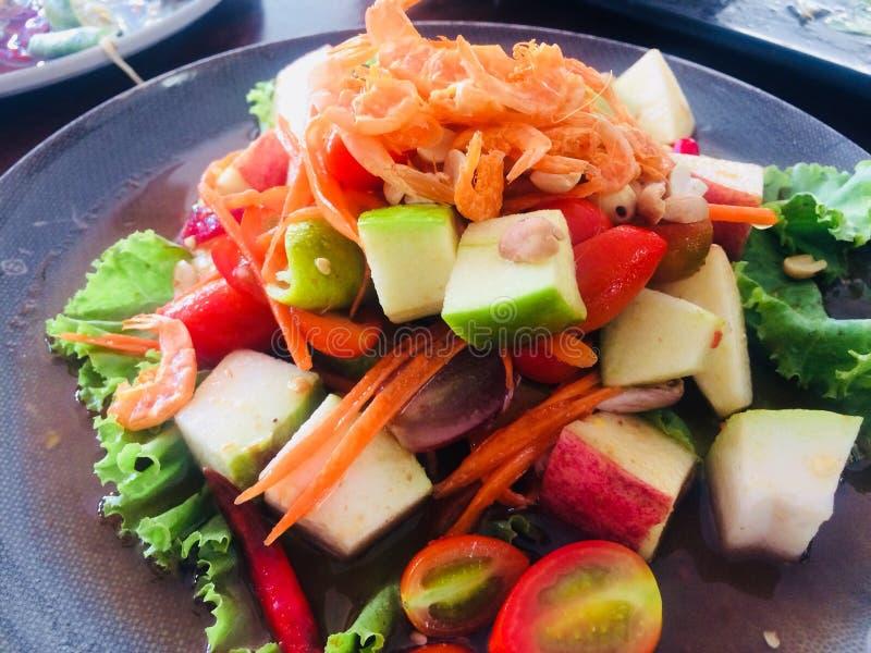 Insalata di verdure dell'alimento fotografia stock libera da diritti