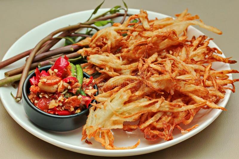 Insalata di verdure mista piccante ed acida popolare tailandese di ricetta, con il franco fotografia stock libera da diritti