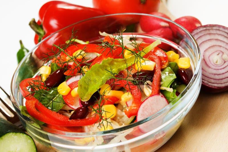 Insalata di verdure Mixed immagine stock