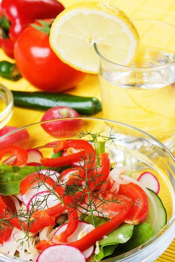Insalata di verdure ricca e sana fotografia stock libera da diritti